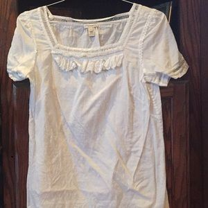 J.Crew white shirt sleeve top